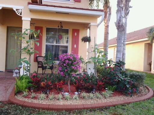 Riviera Beach, curbing, decorative, flower beds, landscape design